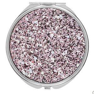 Nwt Conair pink glitter mirror